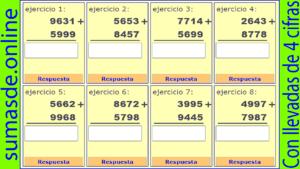 sumas llevando de 4 cifras