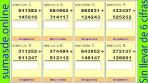 sumas sin llevadas de 6 cifras